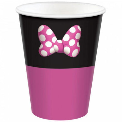 8 Pack Minnie Mouse Forever Paper Cups - 266ml - The Base Warehouse
