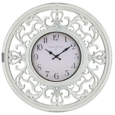 Ornate White Clock - 65cm - The Base Warehouse