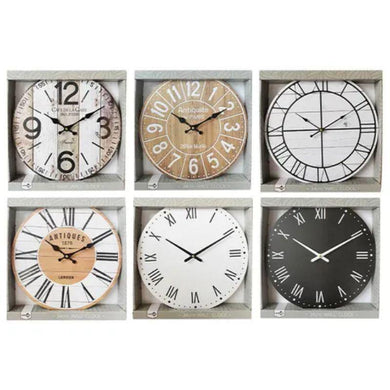 MDF Classic Printed Clock - 34cm - The Base Warehouse