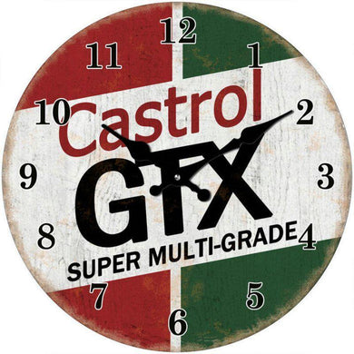 Round Caltex GTX Clock - 17cm - The Base Warehouse