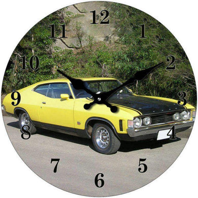 Round Yellow Monaro Clock - 17cm - The Base Warehouse