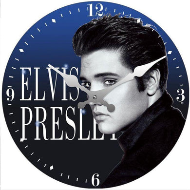 Round Elvis Blue Clock - 30cm - The Base Warehouse