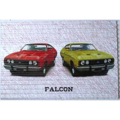 Ford Falcons Red & Yellow Garage Sign - 60cm x 40cm - The Base Warehouse