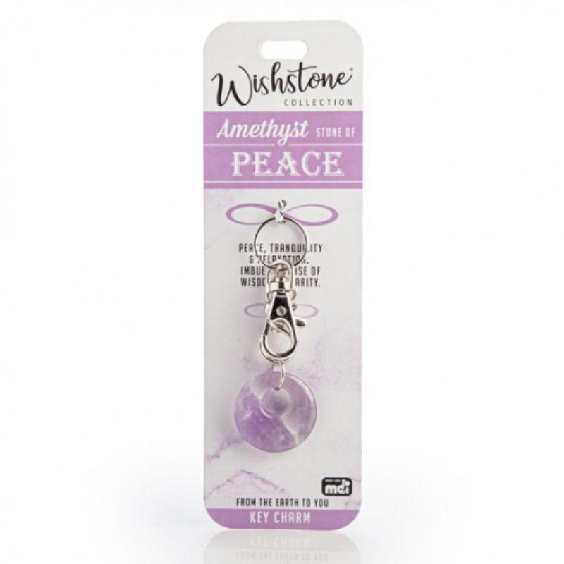 Wishstone Collection Amethyst Key Charm
