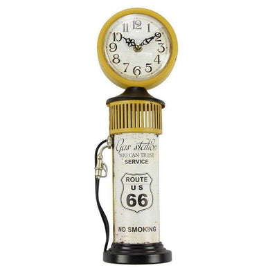 Petrol Bowser Route 66 Clock - 38cm - The Base Warehouse