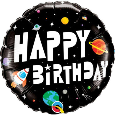HBD Astronaut Round Foil Balloon - 45cm - The Base Warehouse