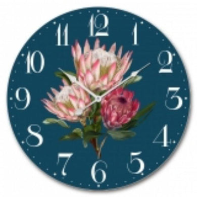 MDF Protea Wall Clock - 60cm - The Base Warehouse