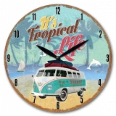 Kombi Van Wall Clock A - 30cm - The Base Warehouse