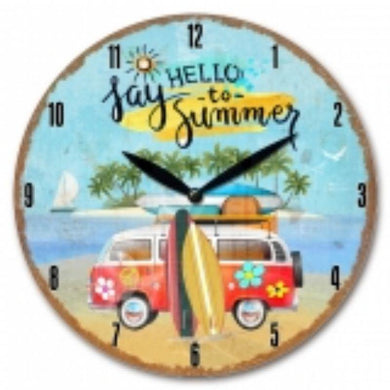 Kombi Van Wall Clock B - 30cm - The Base Warehouse