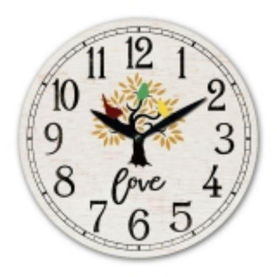 MDF Love Wall Clock - 30cm - The Base Warehouse