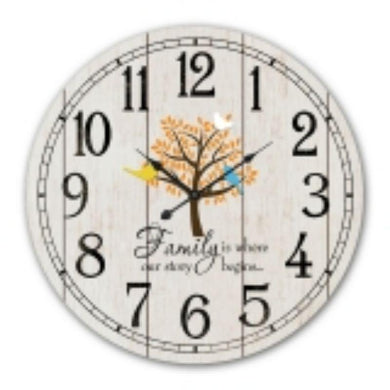 MDF Family Wall Clock - 60cm - The Base Warehouse