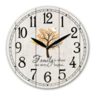 MDF Family Wall Clock - 30cm - The Base Warehouse