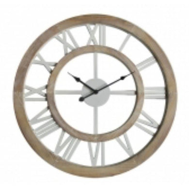 MDF Frmae Wall Clock with White Numbers - 80cm - The Base Warehouse