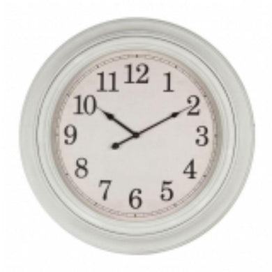 White Plastic Wall Clock - 61.2cm x 61.2cm - The Base Warehouse