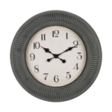 Grey Plastic Wall Clock - 50.5cm x 50.5cm - The Base Warehouse