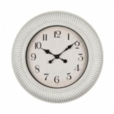 White Plastic Wall Clock - 50.5cm x 50.5cm - The Base Warehouse