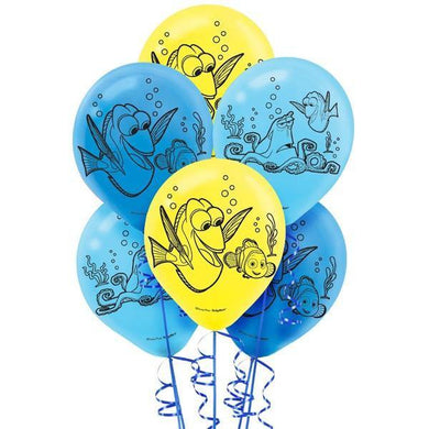 6 Pack Finding Dory Latex Balloons - 30cm - The Base Warehouse
