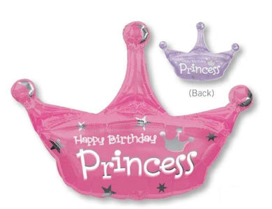 SuperShape Princess Crown Foil Balloon - 64cm x 86cm - The Base Warehouse