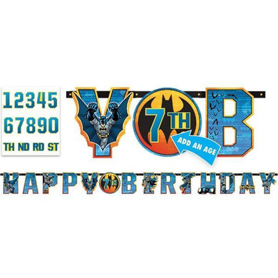 Batman Letter Add An Age Happy Birthday Banner - 25cm x 3.2m - The Base Warehouse
