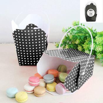 3 Pack Black Dot Party Box - The Base Warehouse