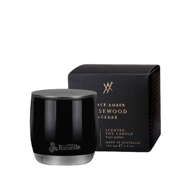 Alchemy - Black Amber, Rosewood & Cedar Soy Candle - 140g - The Base Warehouse