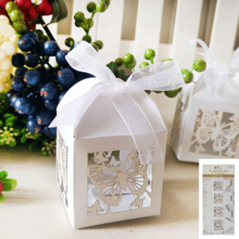 4 Pack White Favour Boxes
