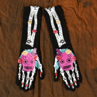 Adult Day of the Dead Gloves - The Base Warehouse