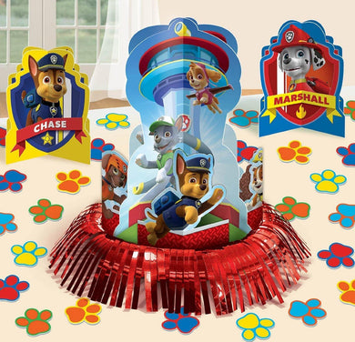 Paw Patrol Table Decorating Kit Contains - 1 x 32cm Centrepiece - 2 x 18cm Centrepieces - 20 x 5cm Confetti - The Base Warehouse
