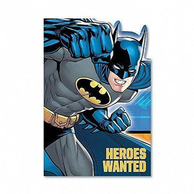 8 Pack Batman Invitations Heroes Wanted - The Base Warehouse