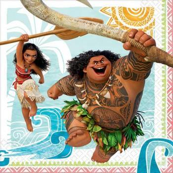 16 Pack Moana Luncheon Napkins - 33cm x 33cm - The Base Warehouse