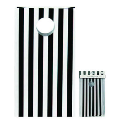 6 Pack Black Stripe Party Bag - The Base Warehouse