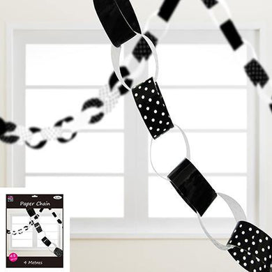 Black Paper Chain - 4m - The Base Warehouse