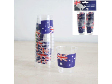 24 Pack Aussie Shot Glass - The Base Warehouse