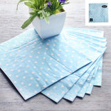 Load image into Gallery viewer, 20 Pack Pastel Blue Polka Dot Napkins - 33cm x 33cm