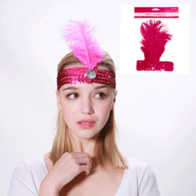 Pink Flapper Headband - The Base Warehouse