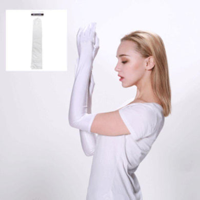 Adult White Long Gloves - The Base Warehouse