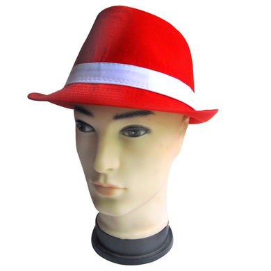 Red Fedora Hat - The Base Warehouse