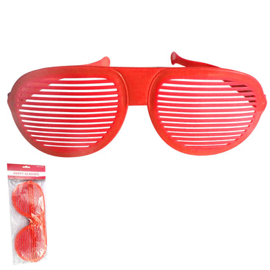 Red Jumbo Shutter Glasses - The Base Warehouse
