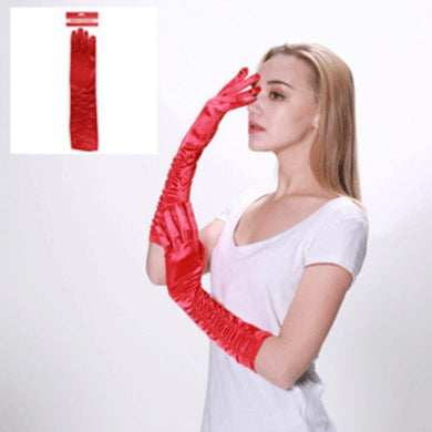 Adult Red Deluxe Long Gloves - The Base Warehouse