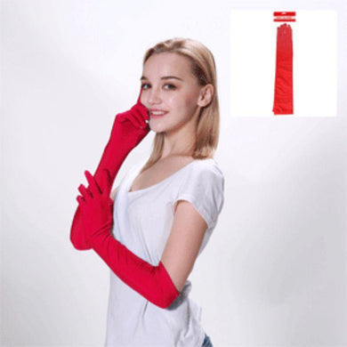 Adult Red Long Gloves - The Base Warehouse
