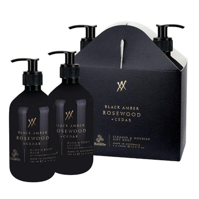 Alchemy - Black Amber, Rosewood & Cedar Cleanse & Nourish Gift Duet - The Base Warehouse