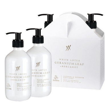 Alchemy - White Lotus, Geranium Leaf & Bergamot Cleanse & Nourish Gift Duet - The Base Warehouse