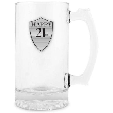 21 Beer Mug with Handle Pewter - 500ml - The Base Warehouse