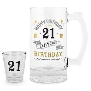 21st Shot and Stein Set - The Base Warehouse