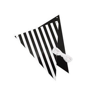 Black Stripe Reversible Bunting - 3m - The Base Warehouse