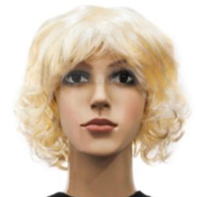 Blonde Curly Bob Wig - The Base Warehouse