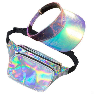 80s Galaxy Bum Bag & Visor Set - The Base Warehouse