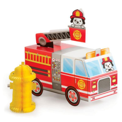 3D Flaming Fire Truck Stand Up Centerpiece - The Base Warehouse