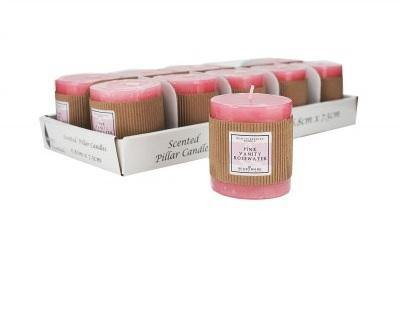 Pink Vanity Rosewater Candle - 6.8cm x 7.5cm
