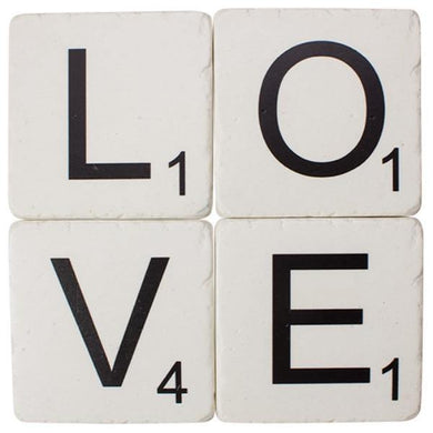 Love Resin Drink Coaster Set - The Base Warehouse